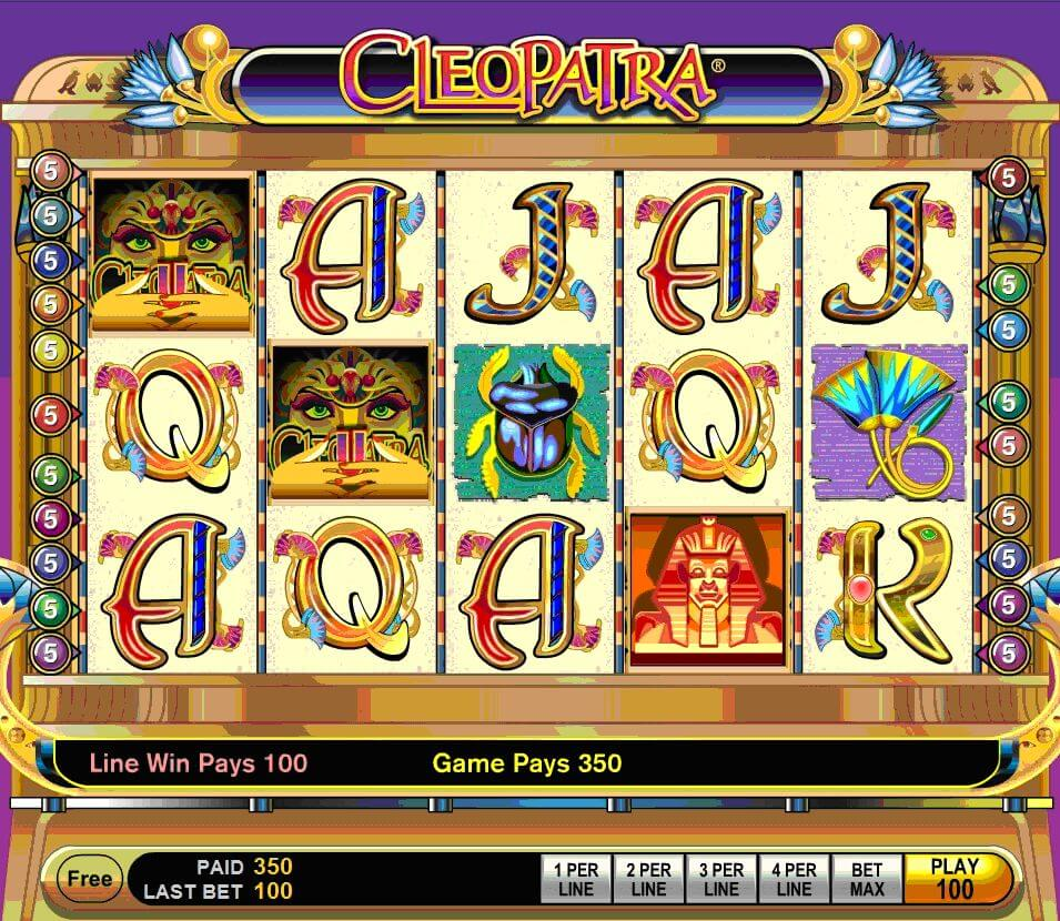cleopatra online slot machine review